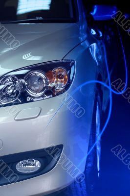 car blue flash