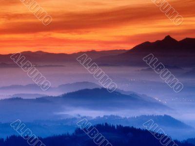 Blue Mound Sunset
