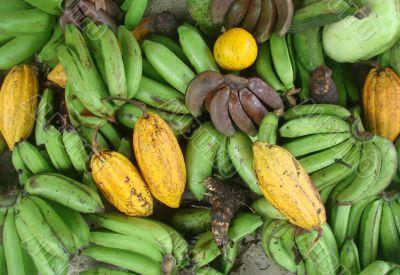 fruit, banan, macro