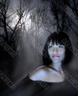 Gaze of the magic woman