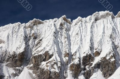 Icy ridge