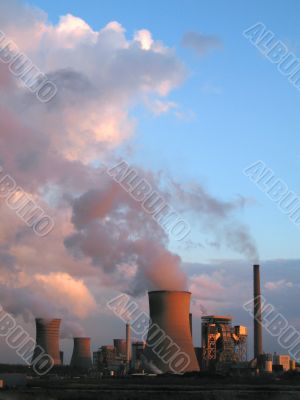 steam of electric power plants