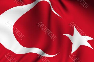 Rendered Turkish Flag
