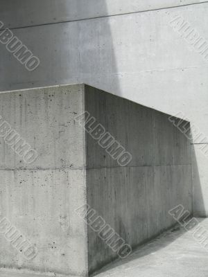 grey concrete solid architecture details