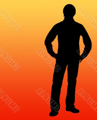 Guy silhouette