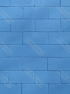 blue cinder block wall background
