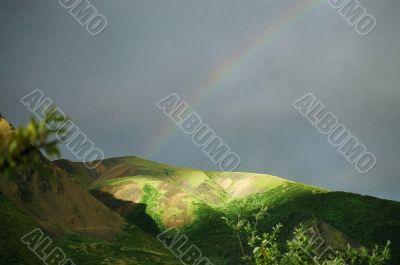 Rainbow on Alaskan Mountain