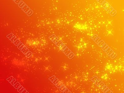 Sparks of floating light illustration