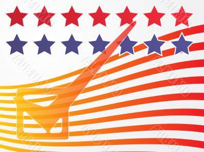 USA election voting illustration