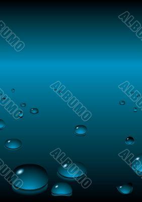 bubble background blue