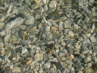 Smooth sea stone