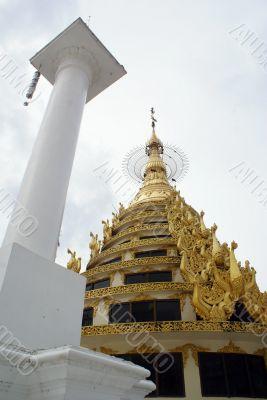 Pagoda and column