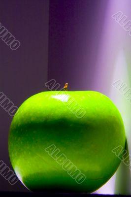 Shiny green Granny Smith apple