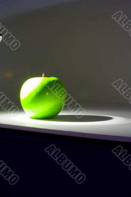 Shiny green Granny Smith apple