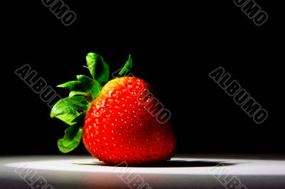 Lucious, ripe, red , juicy strawberry