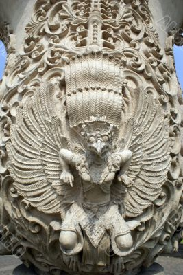 Bas-relief with bird