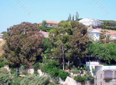 Spanish houses on hillside