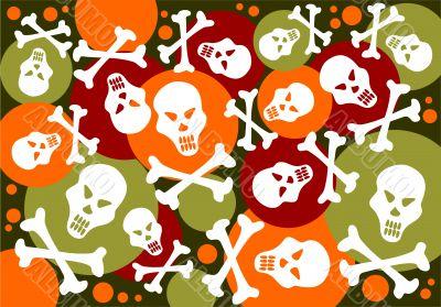 skulls and bones background