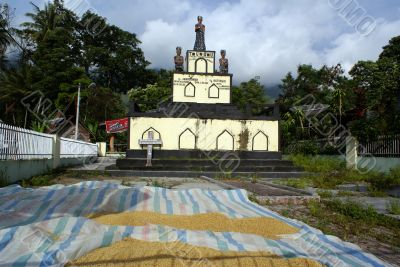 Graveyard in the village