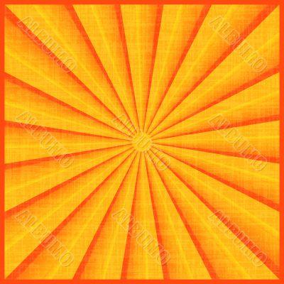 Sun rays with orange colors.