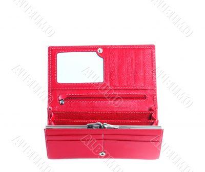 open purse feminine red
