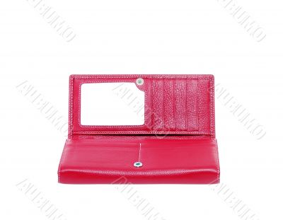 purse feminine red