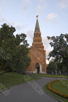 Kremlin Tower with clock