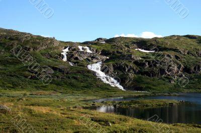Waterfall in Western Norway
