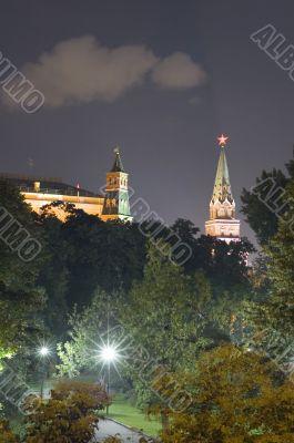 Kremlin Towers in the night