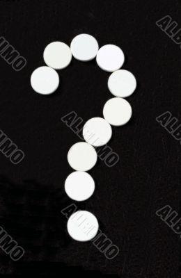 White pill question mark