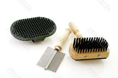 Dog brushing tools