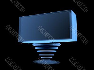 3d digital transparent screen