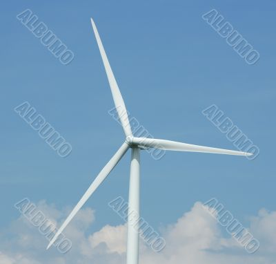 close up of a windturbine