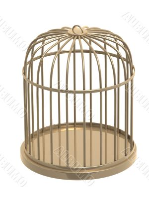3d golden cage