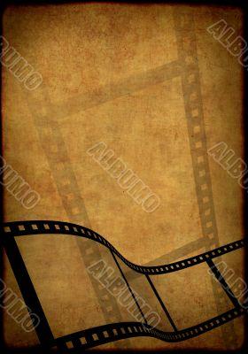 Grunge background - symbolical image of a film