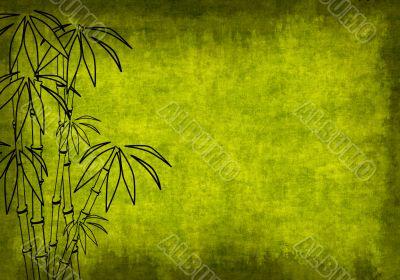 Grunge background of green color