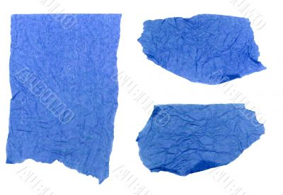 Ripped Blue Tissue Paper
