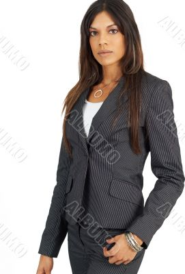 Beautiful successful brunette businesswoman