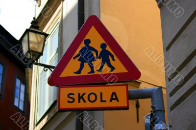 Road Sign Children Crossing