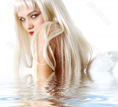 angel in water