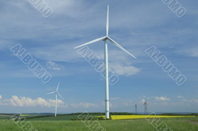 Farm of windturbines