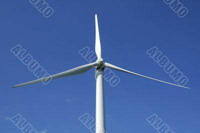 close up of a windturbine