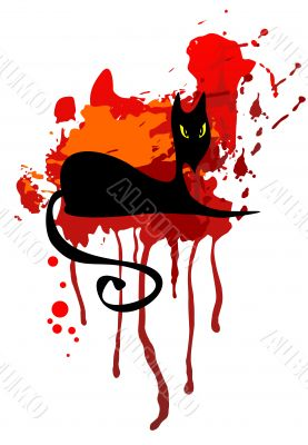 black cat and red spot