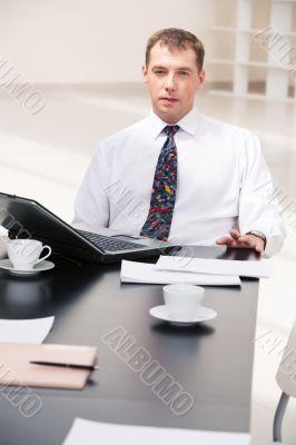 Serious boss