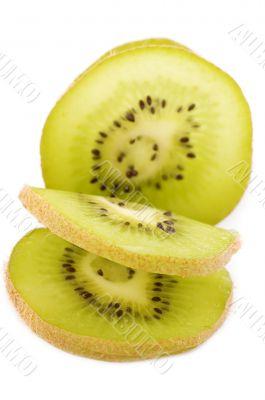 cutting kiwi closeup