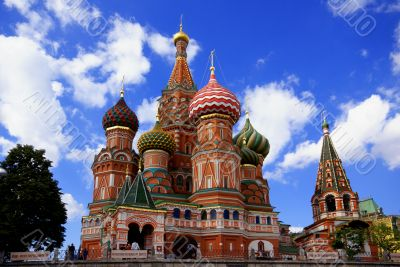 Saint Basil`s Cathedral in Moscow