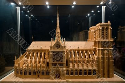 Breadboard model of a cathedral Notre-Dame