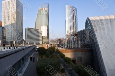 Business area city of Paris