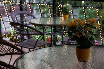 Romantic meal dinner setting