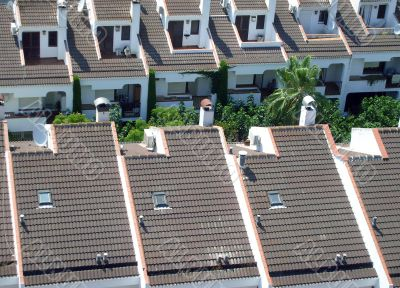 Rooftops of Spanish houses